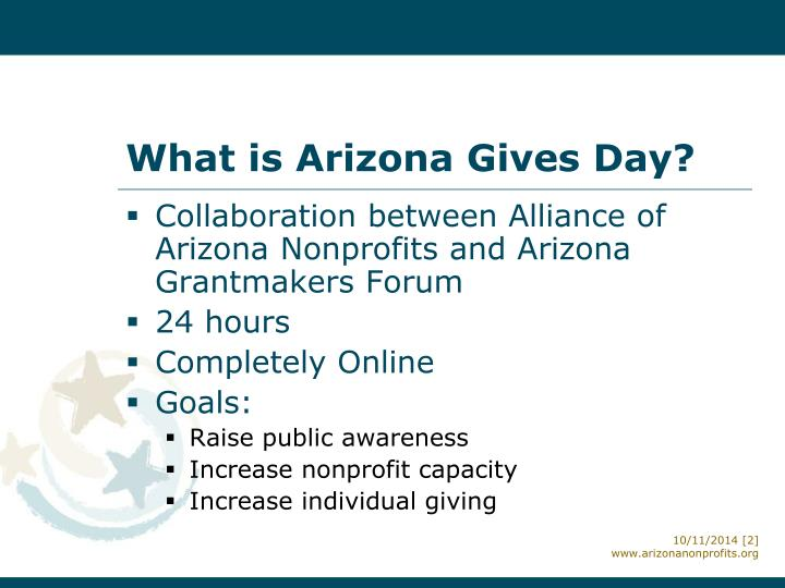 What is arizona gives day