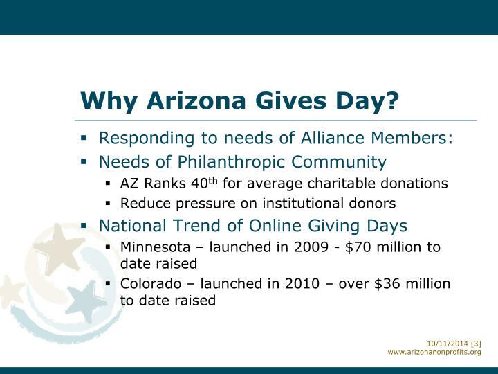 Why Arizona Gives Day?