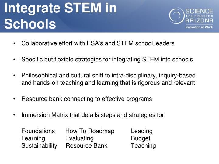 Integrate STEM in