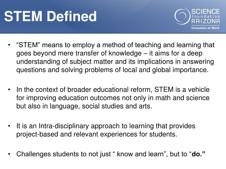 STEM Defined
