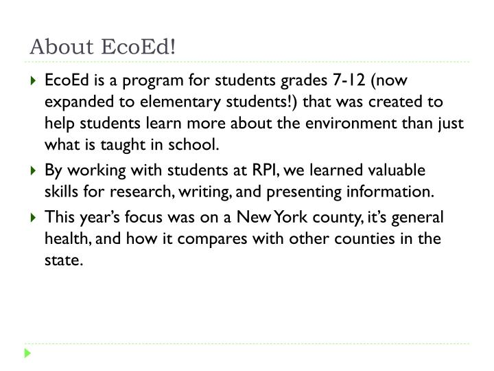 About EcoEd!