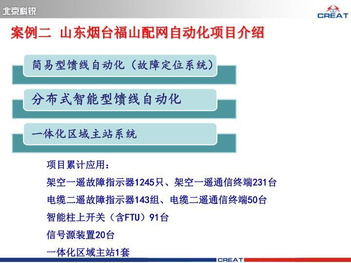 案例二  山东烟台福山配网自动化项目介绍