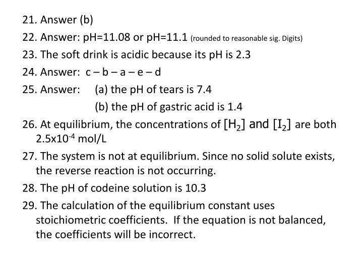 21. Answer (b)