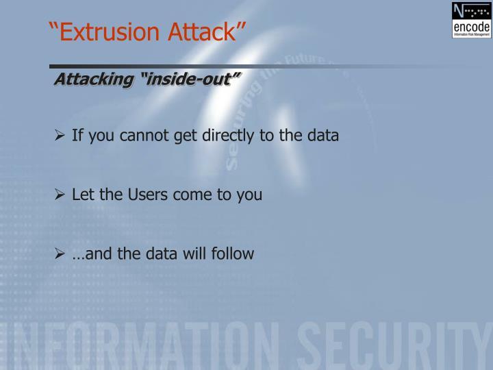 """""""Extrusion Attack"""""""