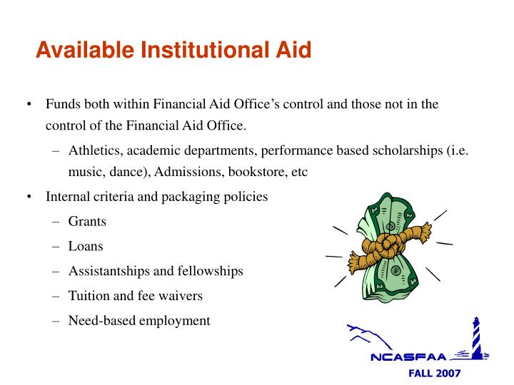Available Institutional Aid