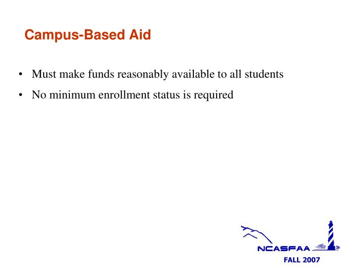 Campus-Based Aid