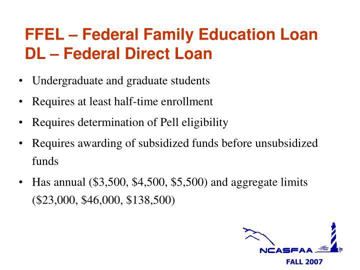 FFEL – Federal Family Education Loan