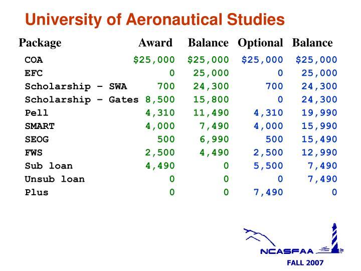 University of Aeronautical Studies