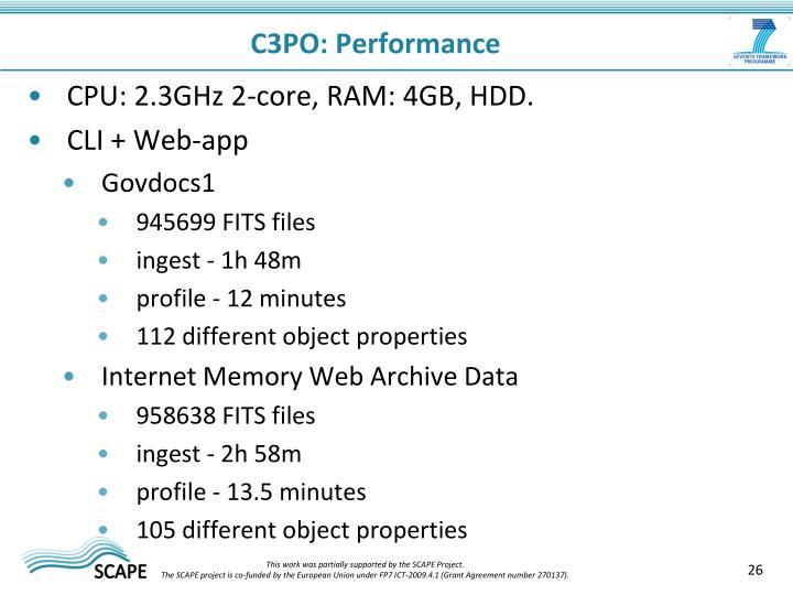 C3PO: Performance