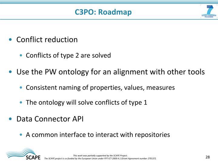 C3PO: Roadmap