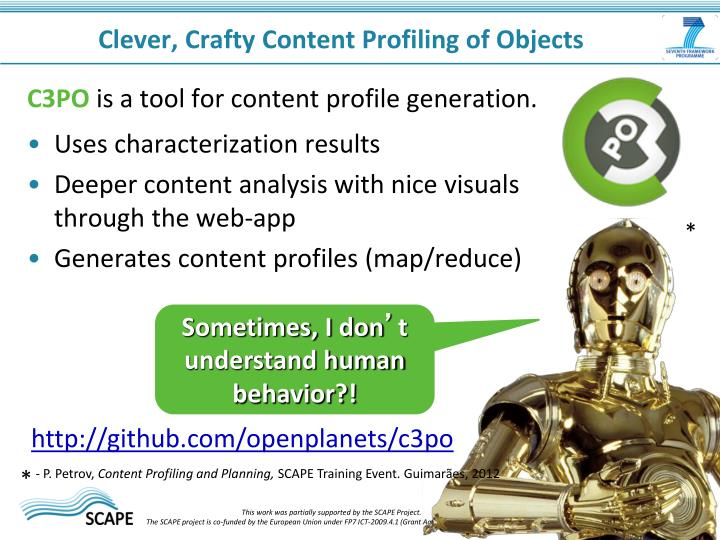 Clever, Crafty Content Profiling of Objects