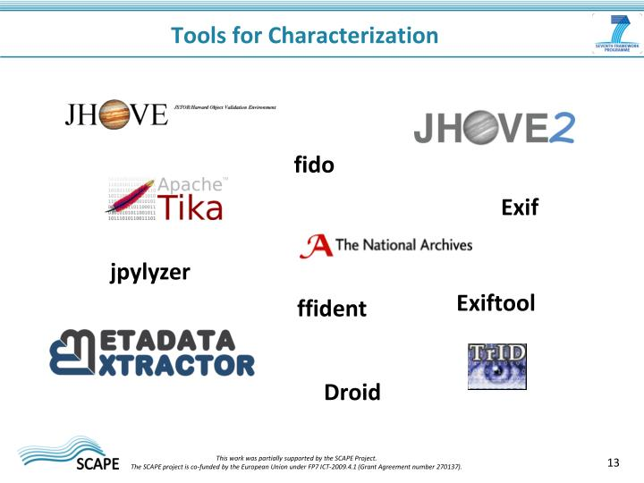 Tools for Characterization