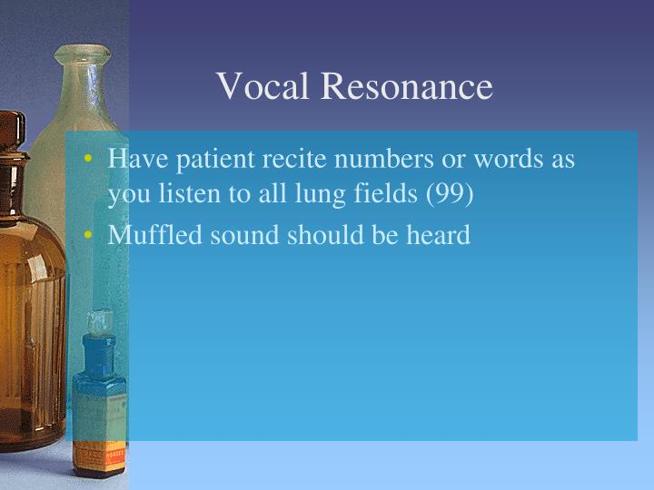 Vocal Resonance