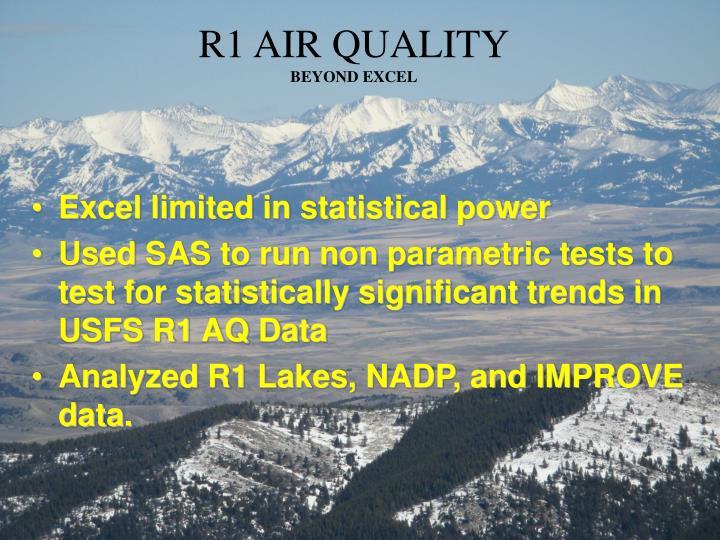 R1 AIR QUALITY