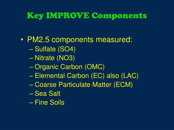 Key IMPROVE Components