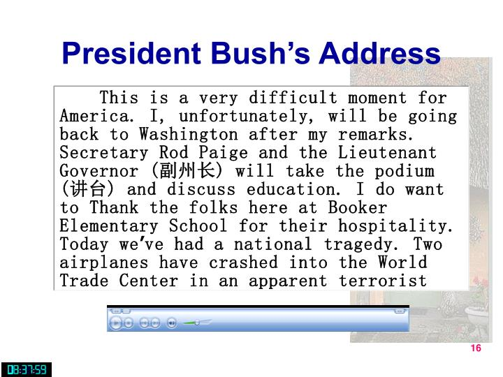 President Bush's Address