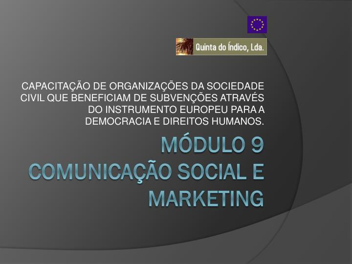 M dulo 9 comunica o social e marketing