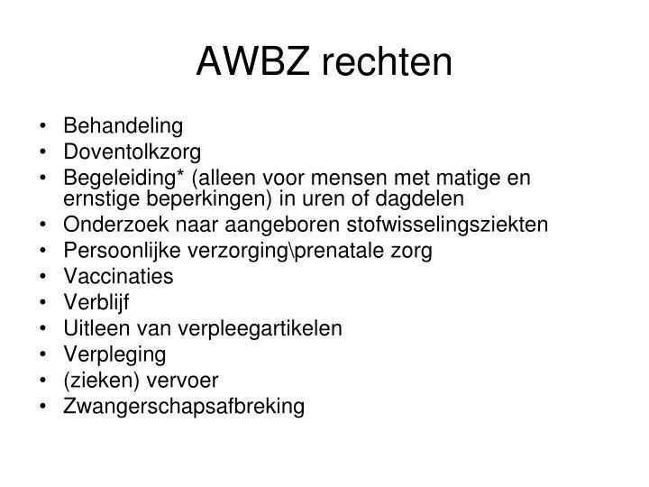 AWBZ rechten