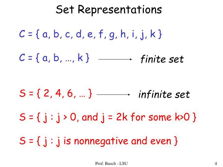 Set Representations