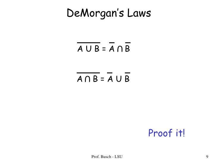DeMorgan's Laws