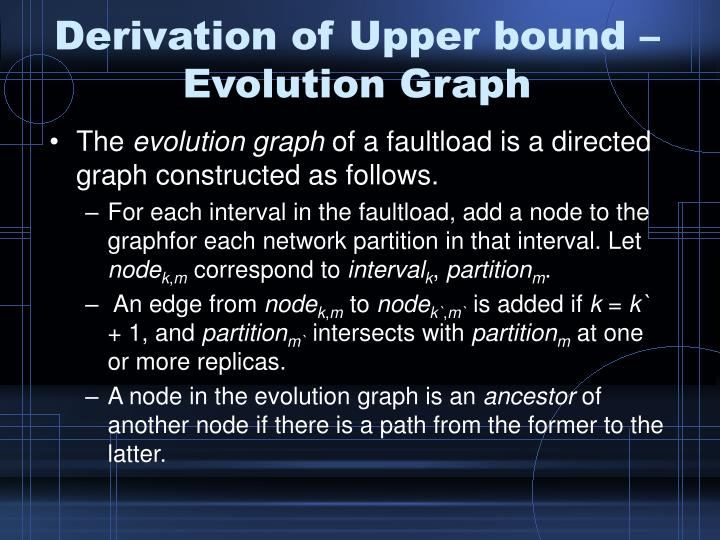 Derivation of Upper bound – Evolution Graph