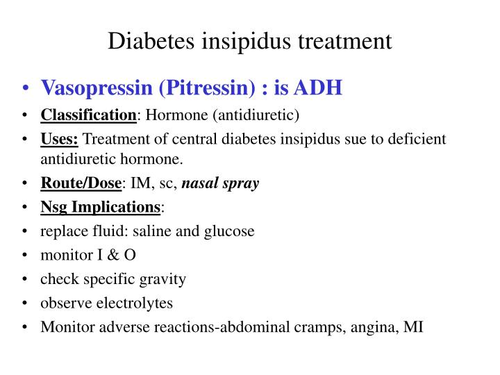 Diabetes insipidus treatment