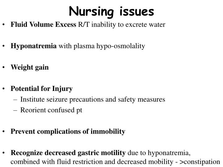 Nursing issues