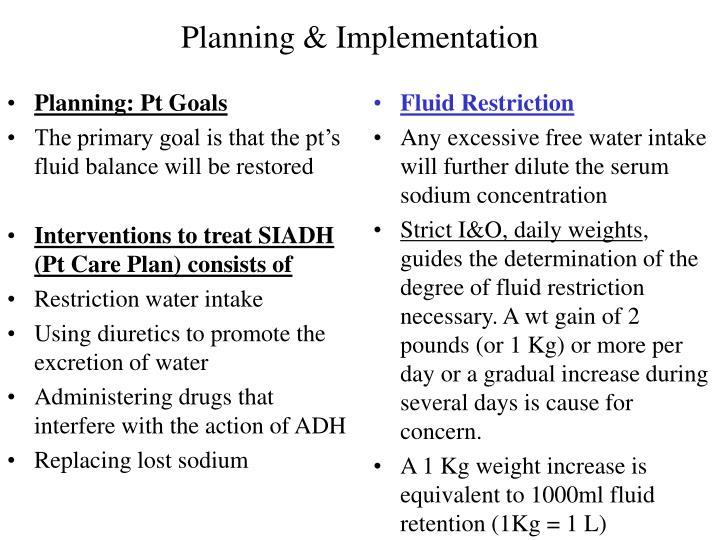 Planning: Pt Goals