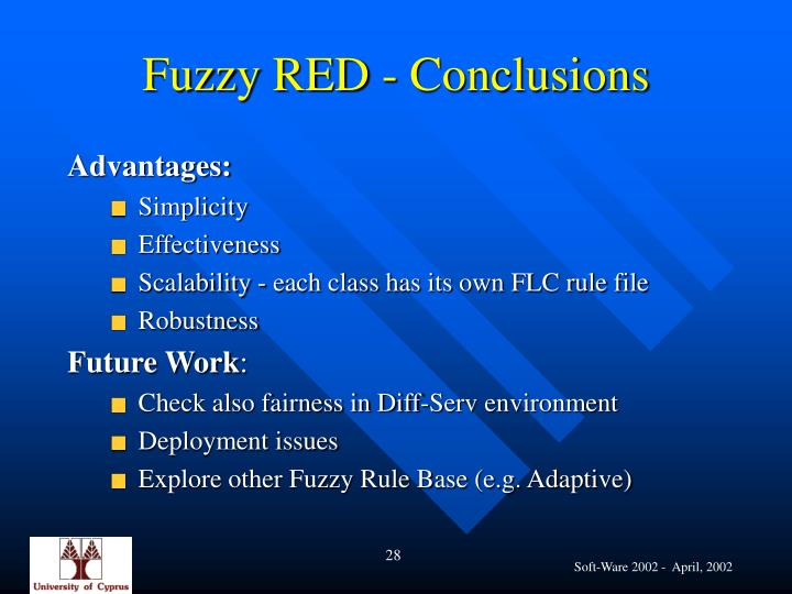 Fuzzy RED - Conclusions