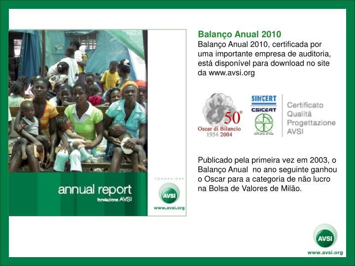 Balanço Anual 2010