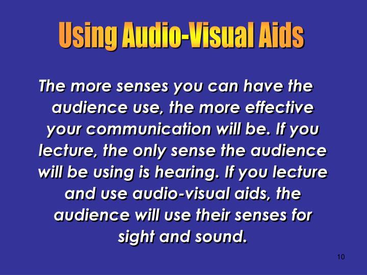 Using Audio-Visual Aids