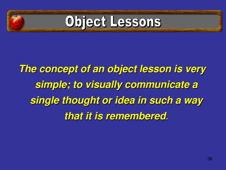 Object Lessons