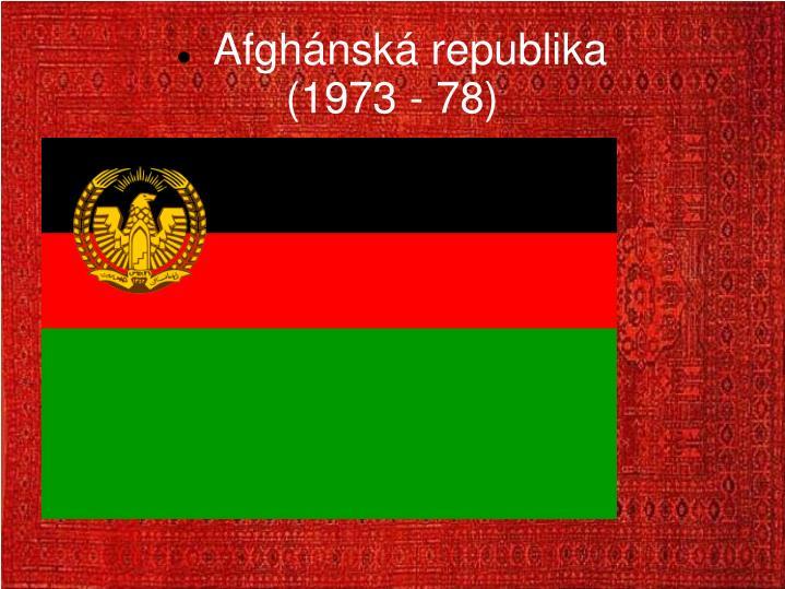 Afghánská republika
