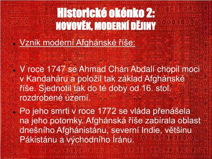 Historick oknko 2: