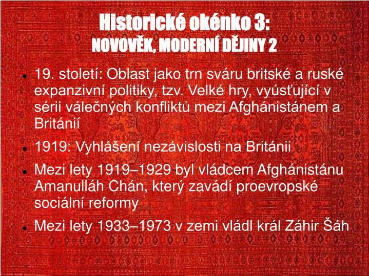 Historické okénko 3: