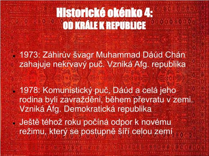 Historické okénko 4:
