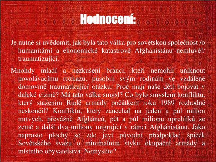 Hodnocen: