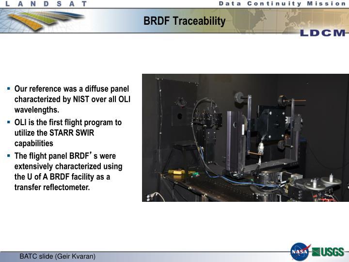 BRDF Traceability