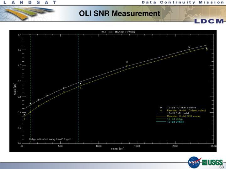OLI SNR Measurement