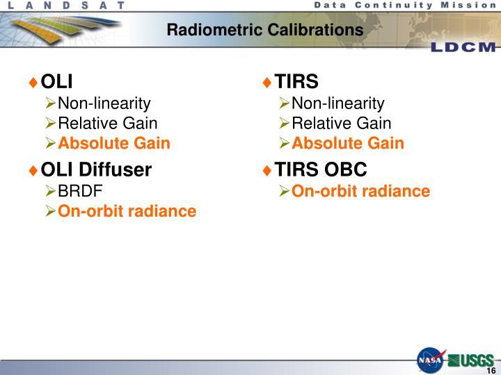 Radiometric Calibrations