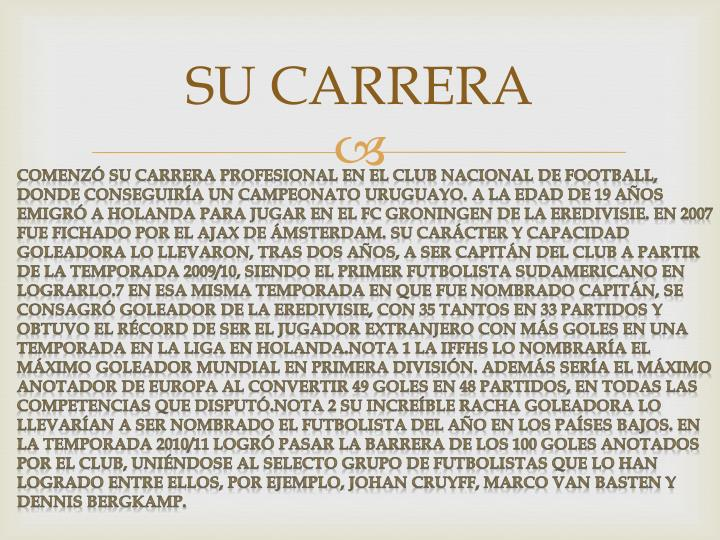 SU CARRERA