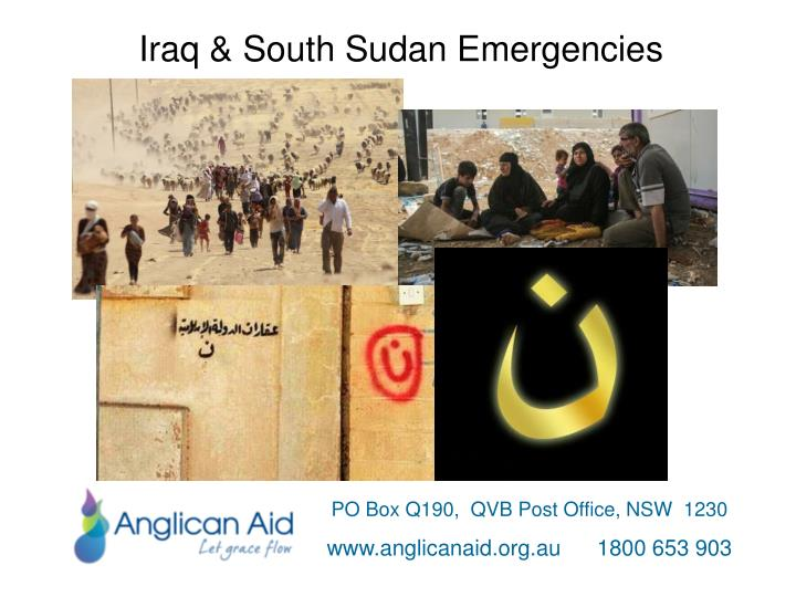 Iraq & South Sudan Emergencies