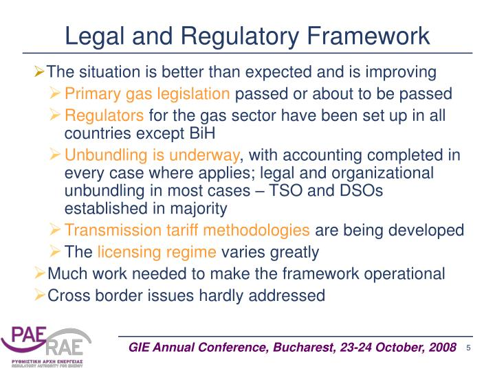 Legal and Regulatory Framework