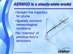 aermod is a steady state model