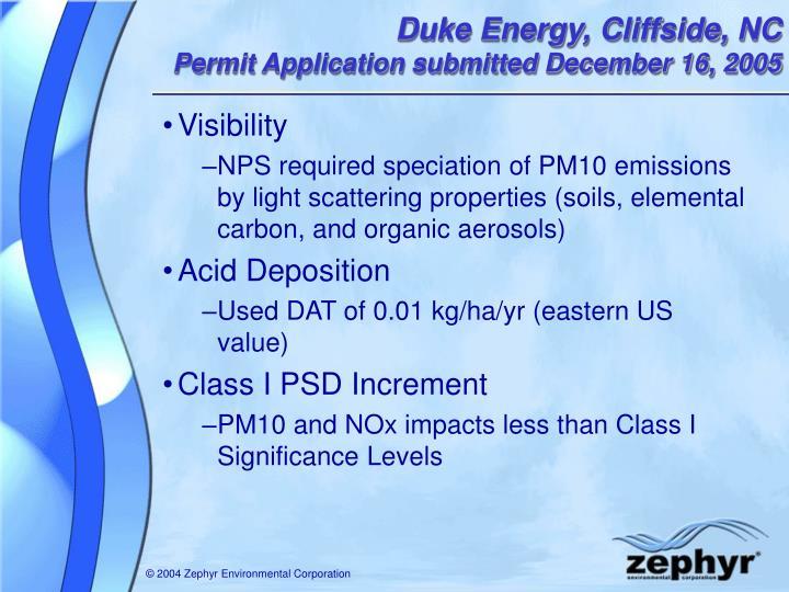 Duke Energy, Cliffside, NC