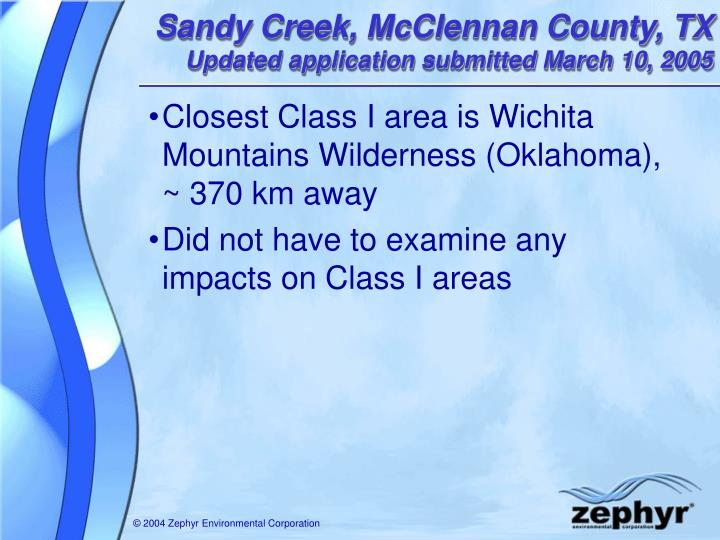 Sandy Creek, McClennan County, TX