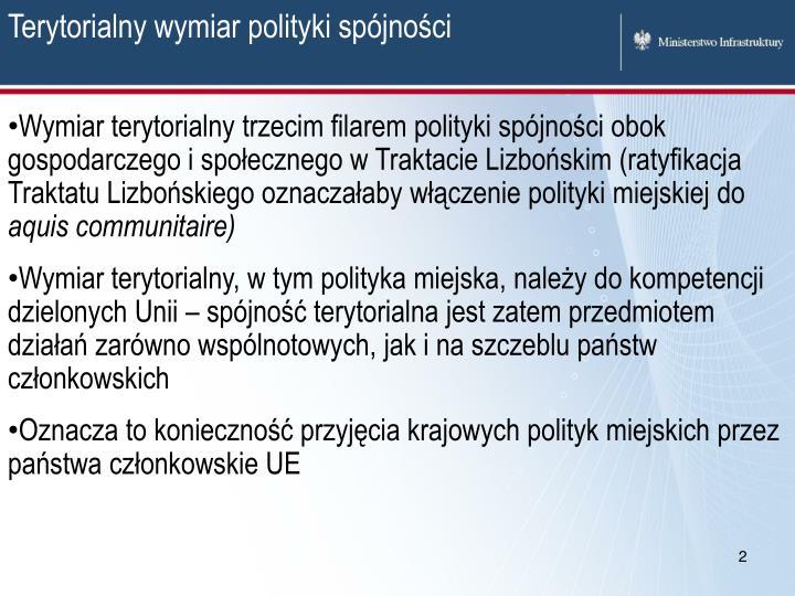 Terytorialny wymiar polityki spójności