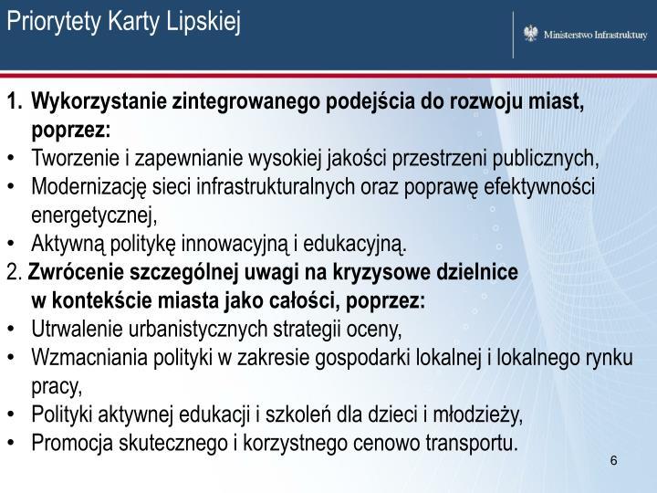Priorytety Karty Lipskiej