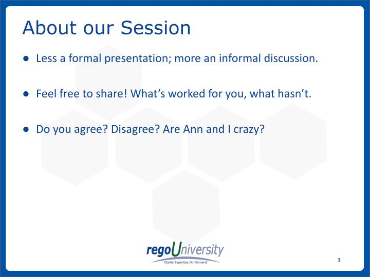 About our Session