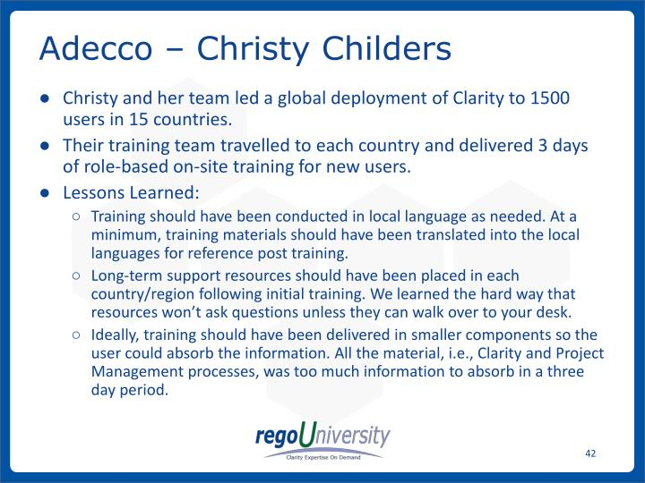 Adecco – Christy Childers